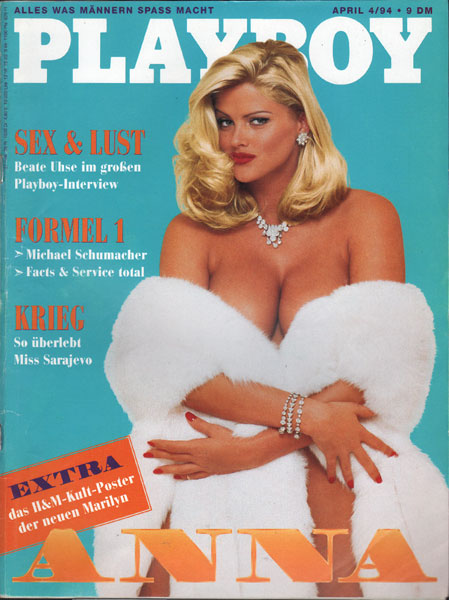 playboy 1994 04 04 94 anna nicole smith poster top ebay. Black Bedroom Furniture Sets. Home Design Ideas